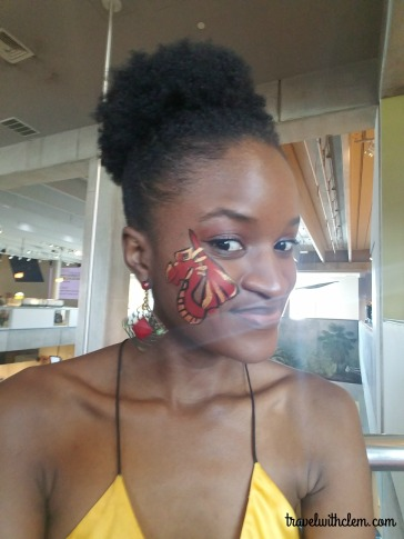 Me Having Gotten an Awesome Face Painting.